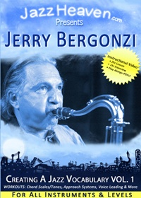 Jerry Bergonzi Creating a Jazz Vocabulary Vol. 1