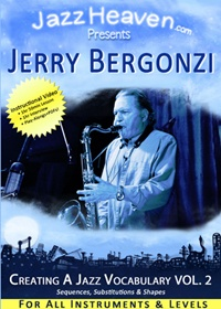 Jerry Bergonzi Creating a Jazz Vocabulary Vol. 2